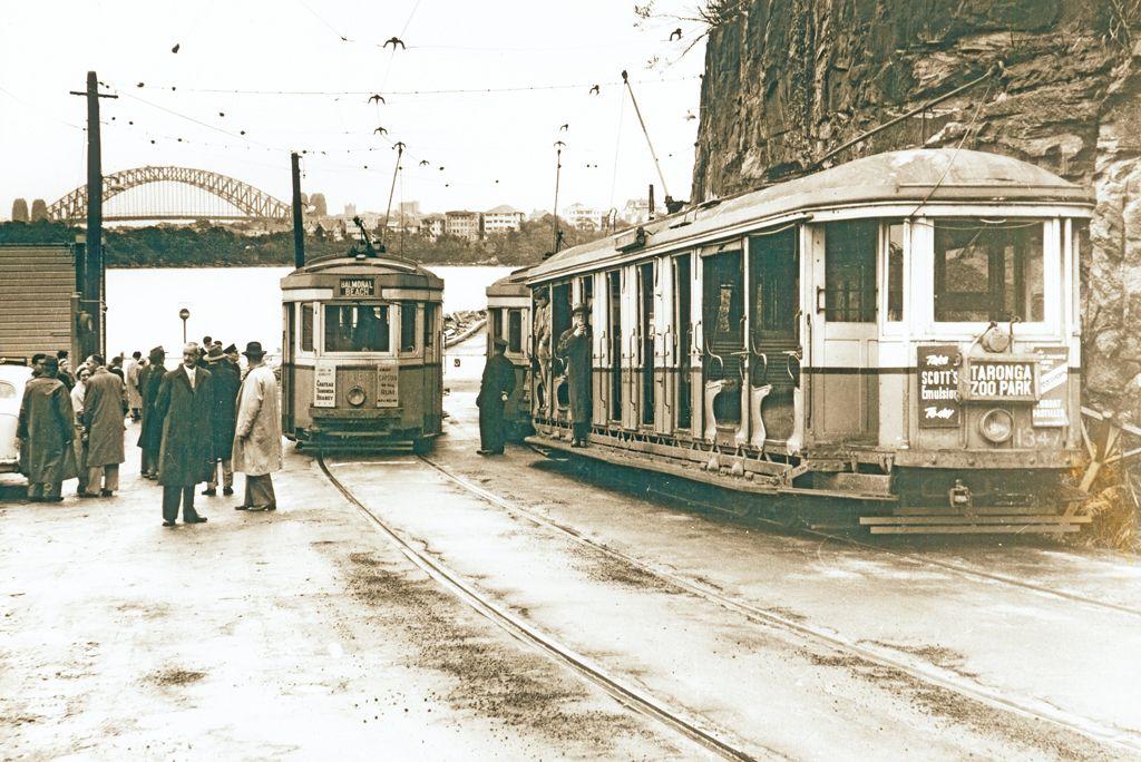 Athol Wharf and the tram for Taronga zoo 1958 New south