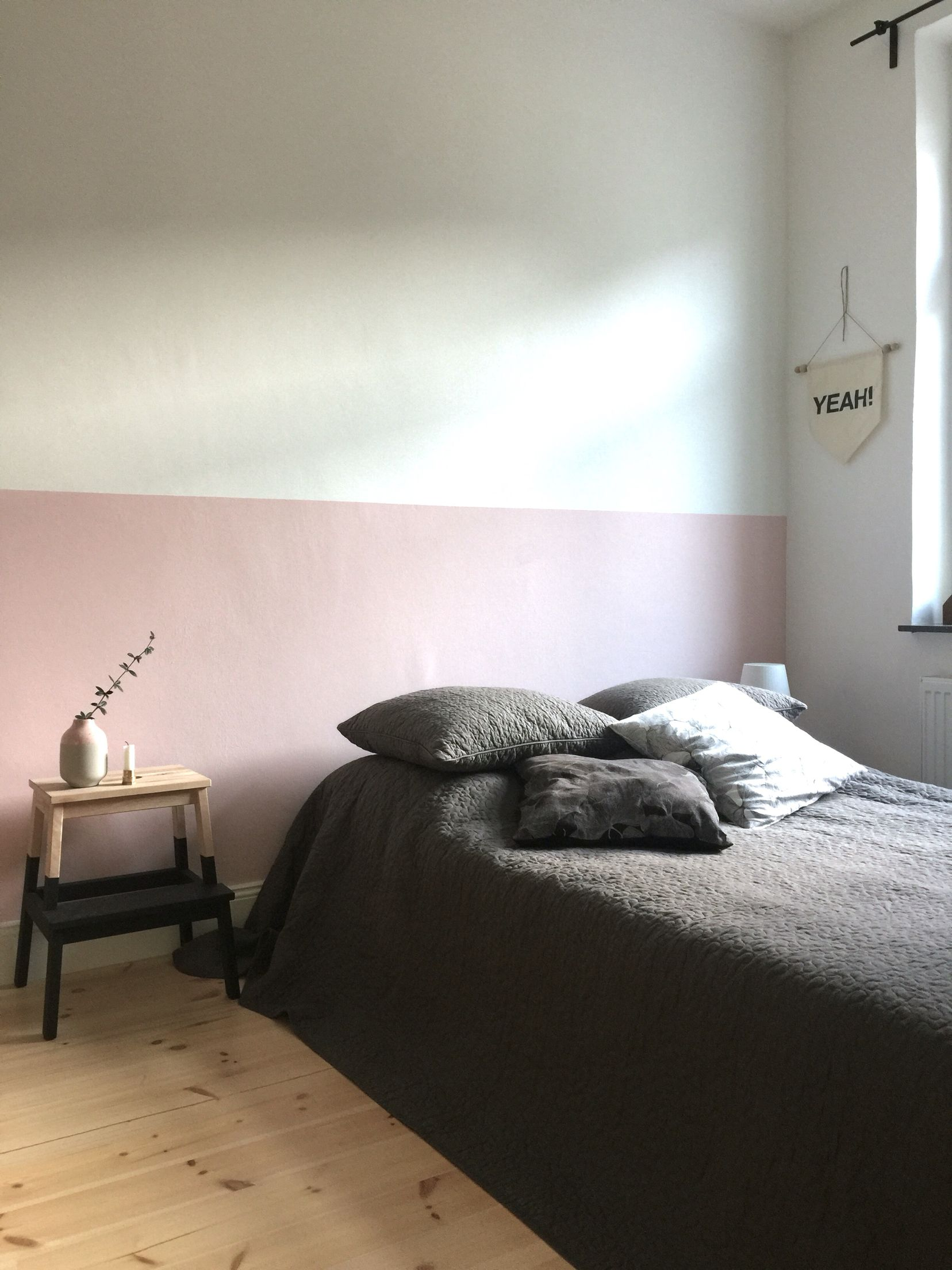Schlafzimmer Altrosa Grau Half Painted Light Pink Wall In My Bedroom Craftifair