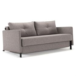 Cubed Modern Queen Sleeper Sofa W Arms In Grey Full Size Sofa Bed Fabric Sofa Bed