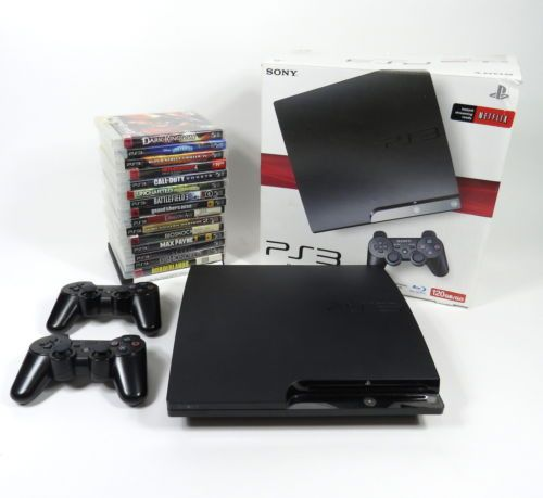 SONY PS3 PLAYSTATION 3 120GB GAME CONSOLE BUNDLE  2 CONTROLLERS  16 GAMES https://t.co/Lo7tRTG2VK https://t.co/3INLiJYK3G
