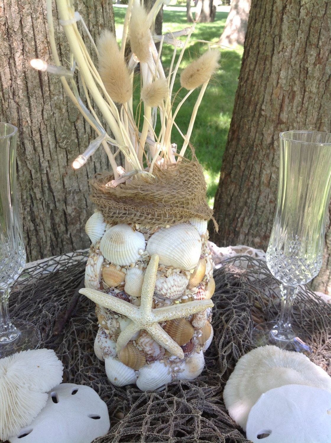 Nautical Wedding Decor Sea Shell Beach Reception Starfish Centerpiece Bride