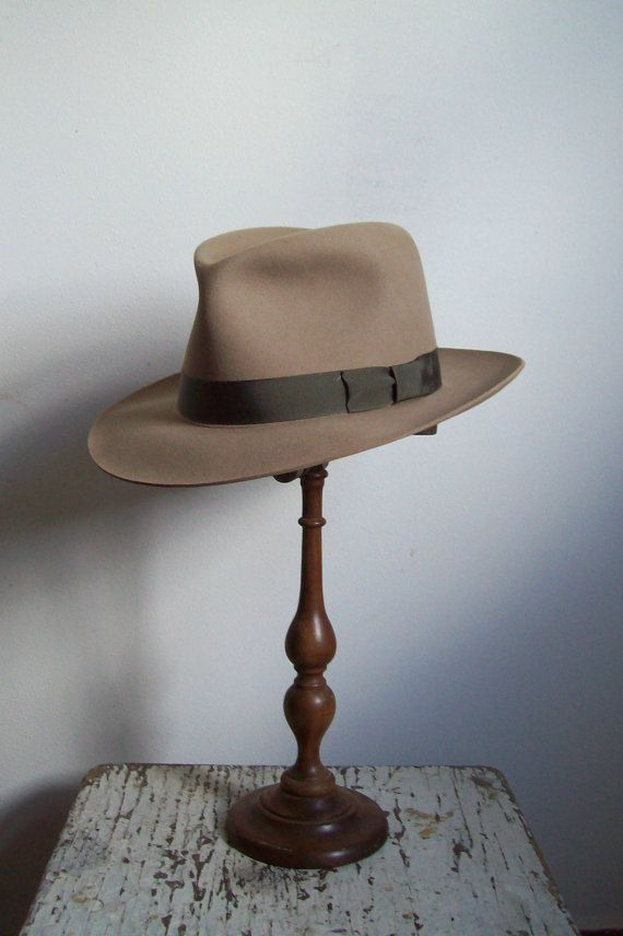 d20cc7b4d5c Vintage mens hat felted fedora Stratton Hat by CrookedJoesAntiques ...