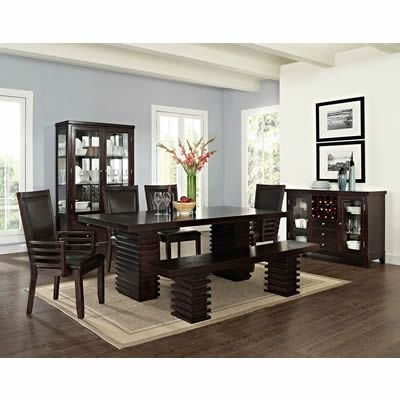 Briana 6 Pc Dining Set W Bench Dining Room  Furniture Mesmerizing Dining And Living Room Sets Inspiration