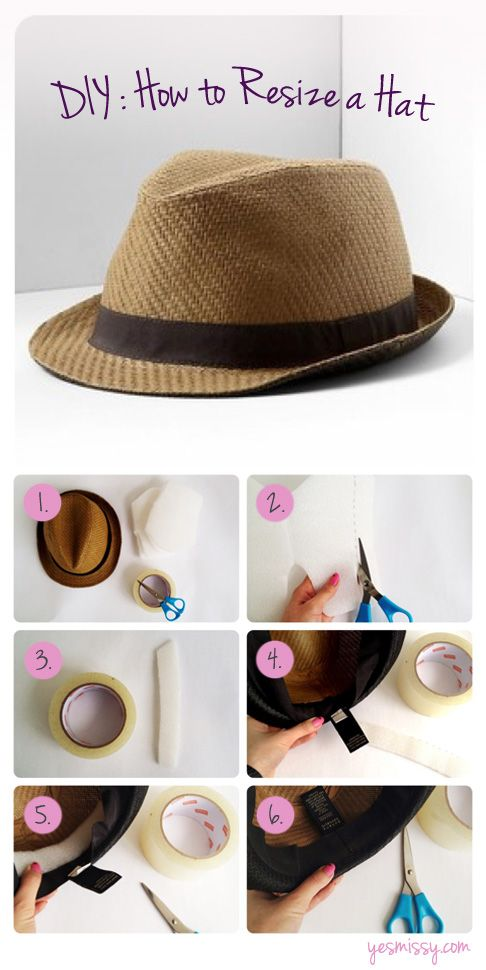DIY: How to Resize a Hat for a Perfect Fit | [[ Hats & Fascinators ...