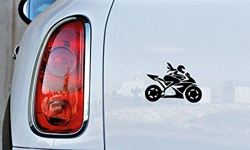 Woman Lady Rider Motorcycle Bike Car Vinyl Sticker Decal Bumper - Motorcycle bumper custom stickers
