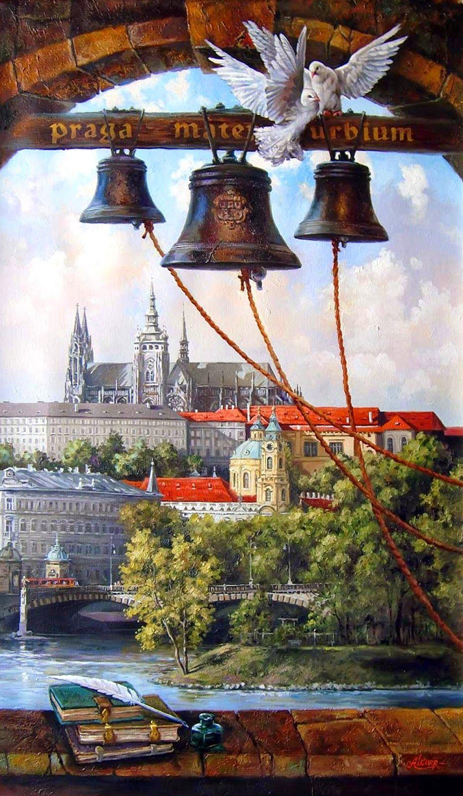Прозрачном, колокола открытка