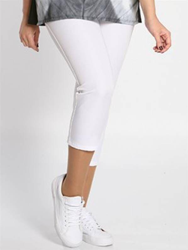 SpgVerano Talla 2016 Pantalon Capri Color Blanco En Grande De 6gYfbyv7