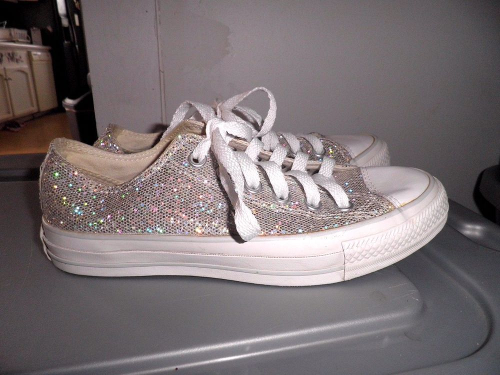 43335945de00 Holographic Glitter Converse All Star Low Women s Size 7  Converse   AllStarsLow