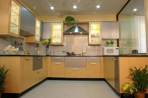 U Shape Modular Kitchen Design Indo Fusion Interior Medium