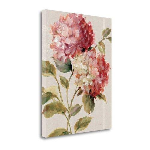 Tangletown Fine Art Harmonious Hydrangeas Linen by Lisa Audit Poster ...