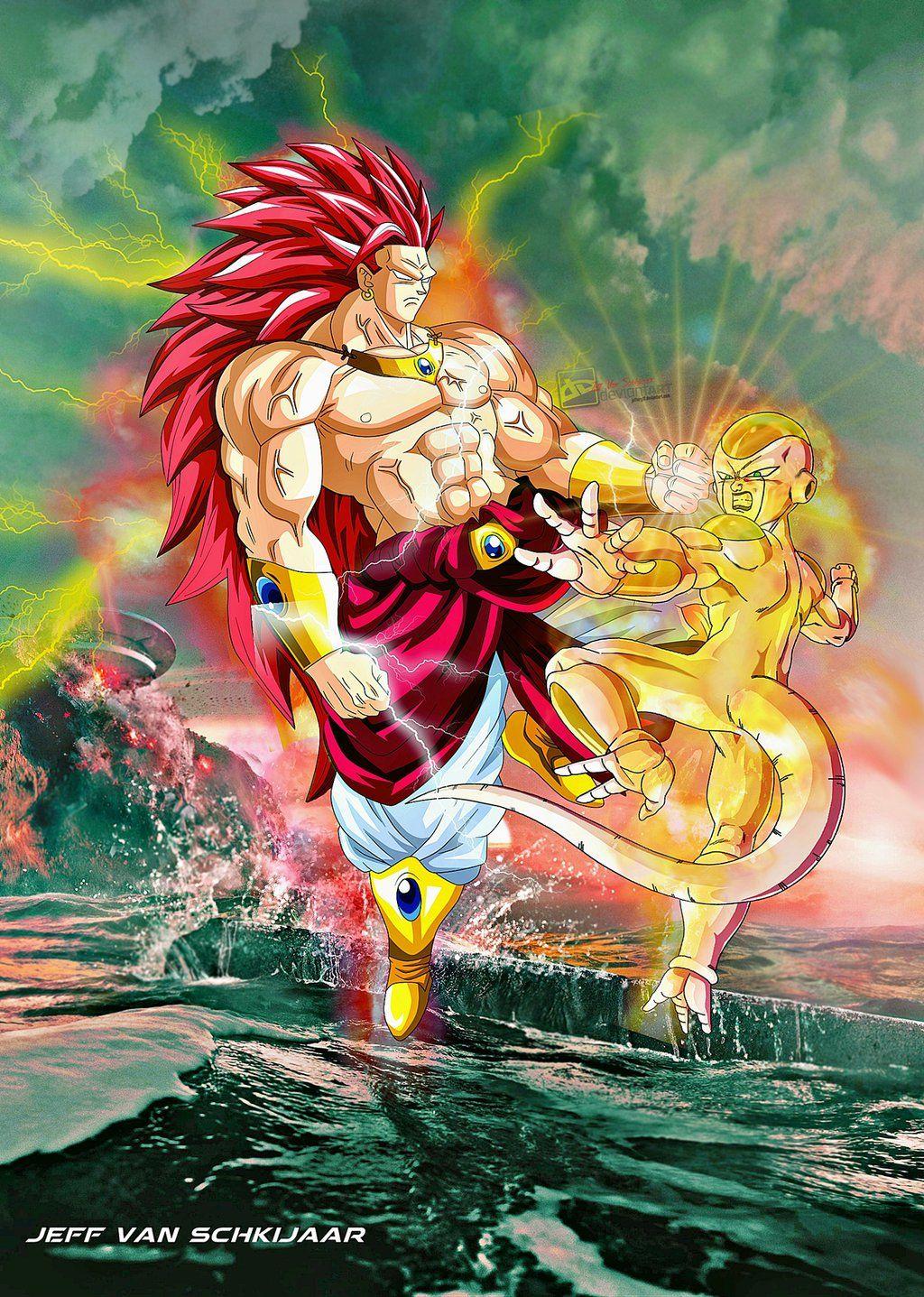 Broly Super Saiyan God 2 vs New Revived Frieza by ...