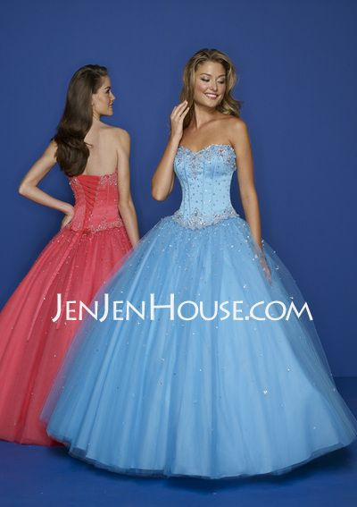 abff5541b48 Quinceanera Dresses -  162.99 - A-Line Princess Sweetheart Floor-Length  Satin Tulle