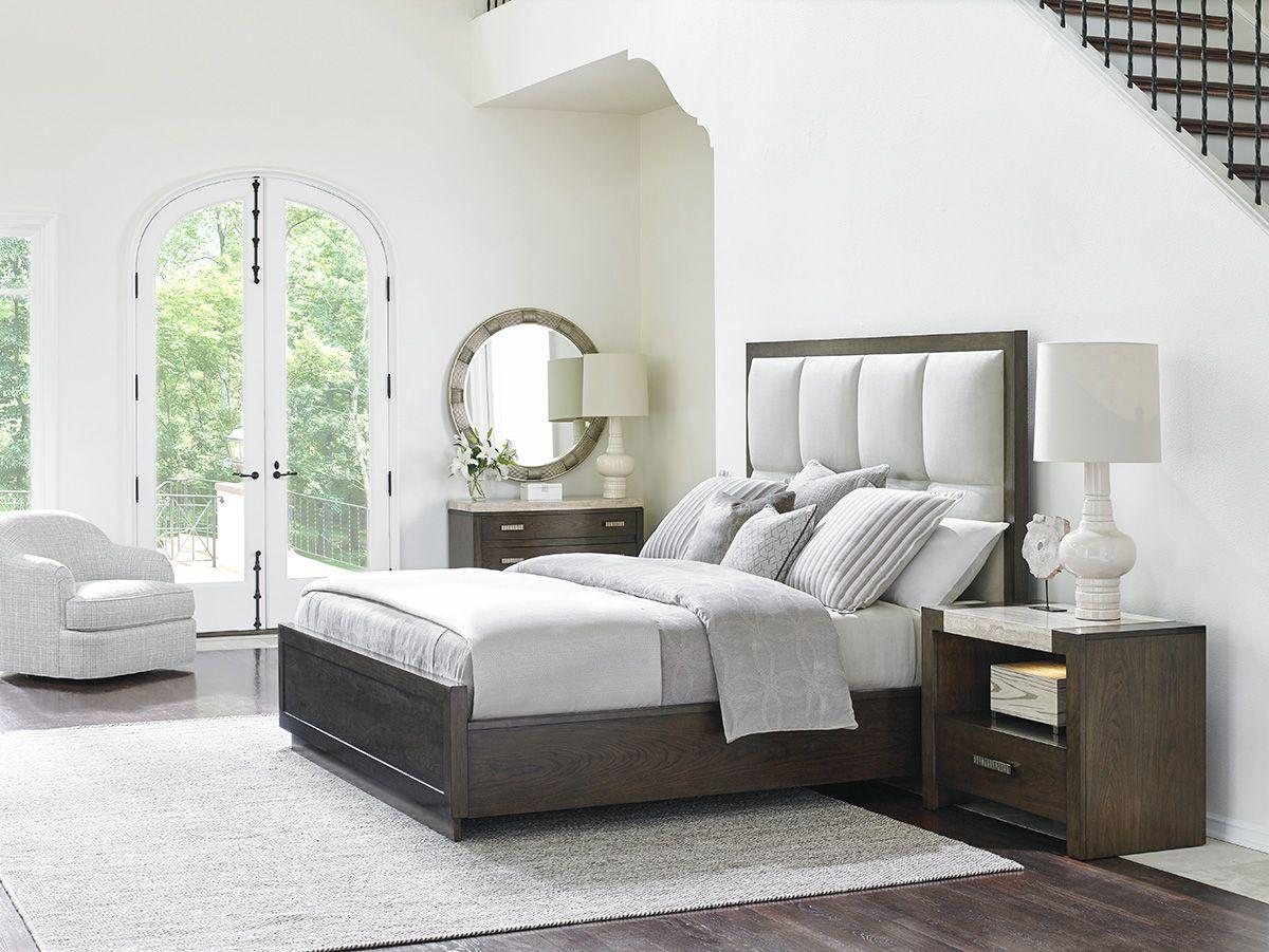 Master bedroom furniture  Upholstered Panel Bed in Neutral Tones LHBDesign  Dreamy Bedrooms