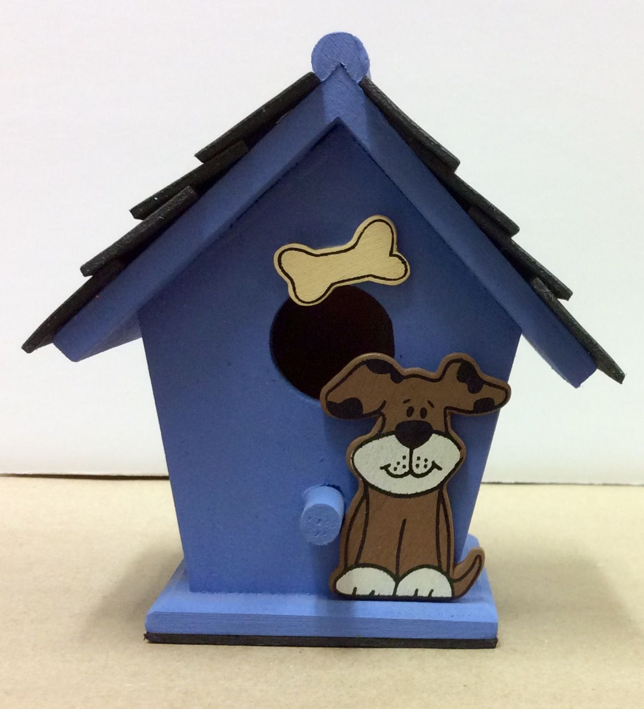 Dog House craft I made as a sample for AC Moore. Dog and bone are ...