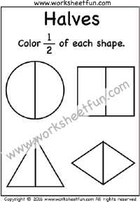 beginner fractions worksheets (free, printable) preschool ...