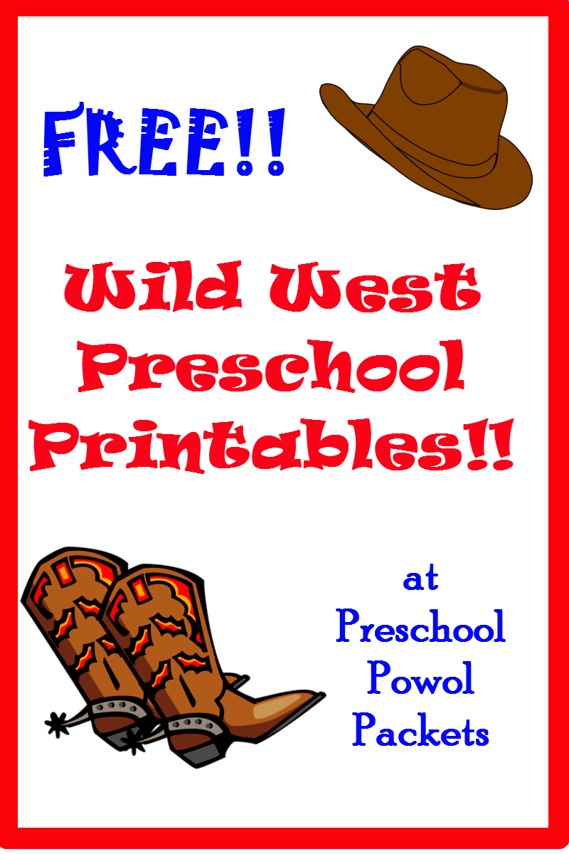 free wild west printables preschool printables wild west and free. Black Bedroom Furniture Sets. Home Design Ideas