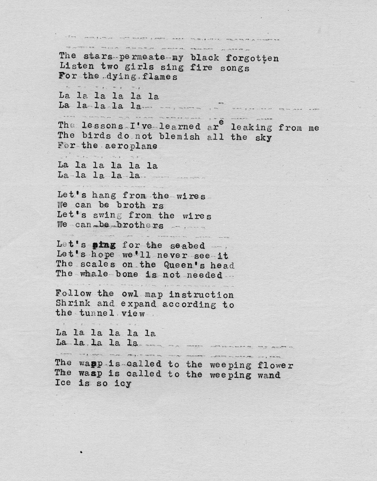 Tunnel View Lyrics Trish Keenan And Broadcast Songs Songs