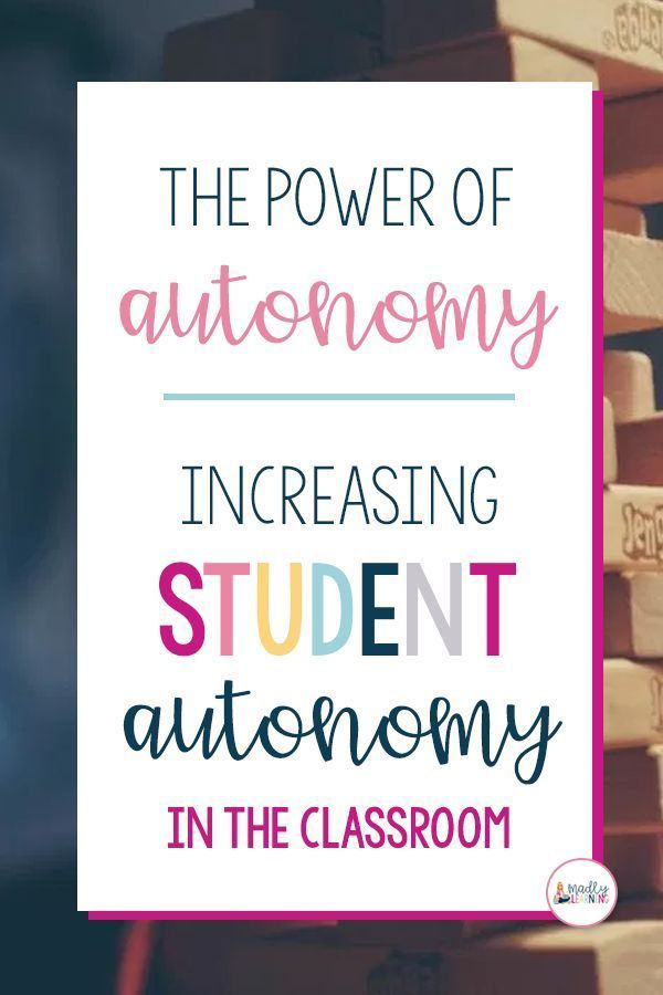 Autonomy in the classroom is very powerful. Click here to learn about how to increase student auton