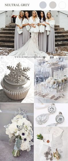 elegant grau neutral winter wunderland hochzeitsideen elegant grau neutral winter …   – Creative bridal shower ideas