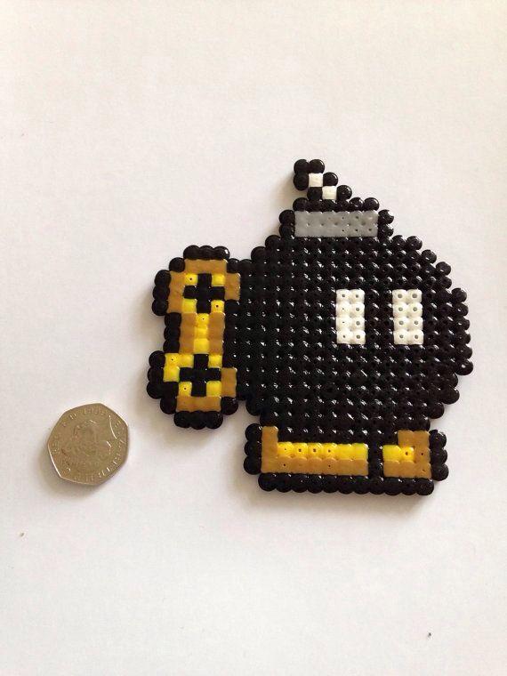 bomba mario bros perler beads perler beads hama beads perler beads beads. Black Bedroom Furniture Sets. Home Design Ideas