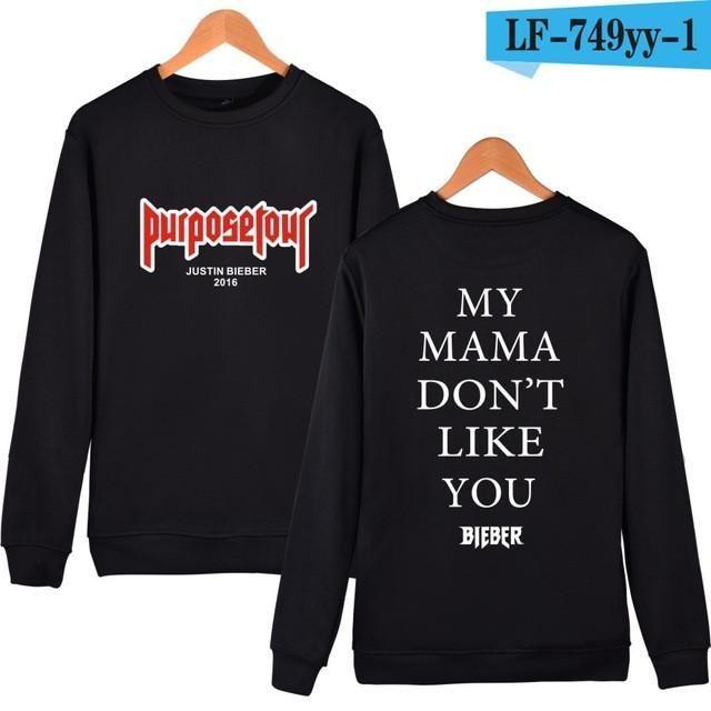 Harajuku Purpose Tour Justin Bieber Streetwear Long Sleeve Sweatshirt