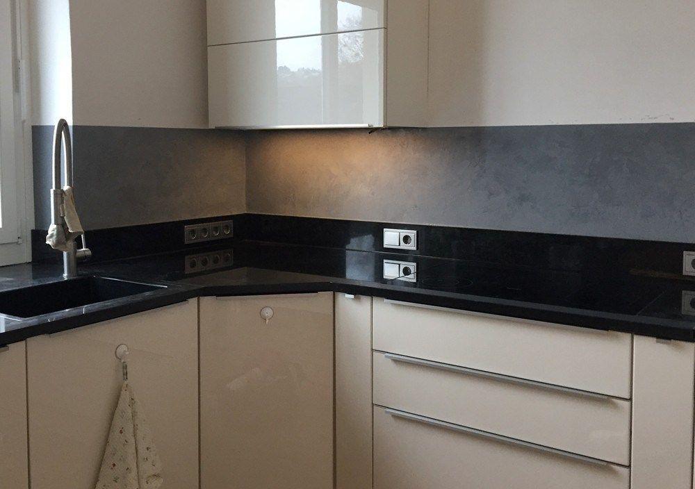 wasserfester Putz in der Küche Küchenrückwand, Küchen