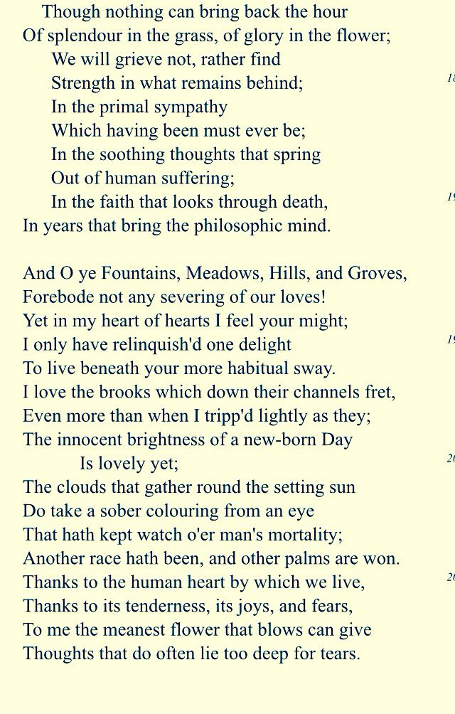 wordsworth intimations of immortality