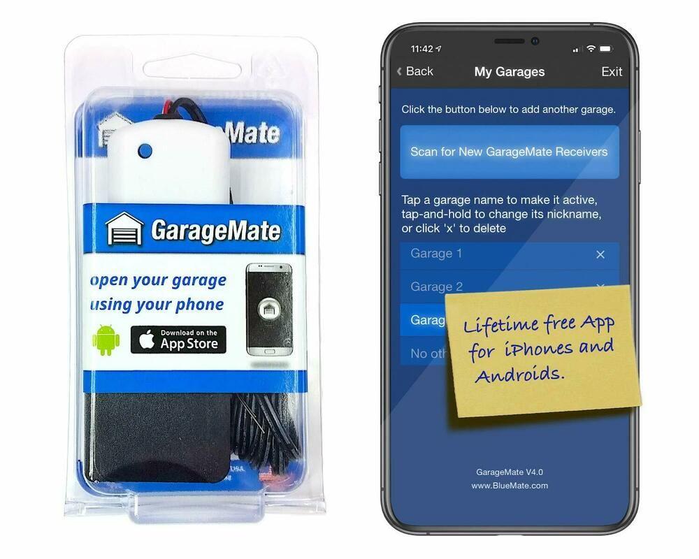 Smartphone Garage Door Opener Iphone Android Bluetooth4 0 Supports All Brands Garagemate
