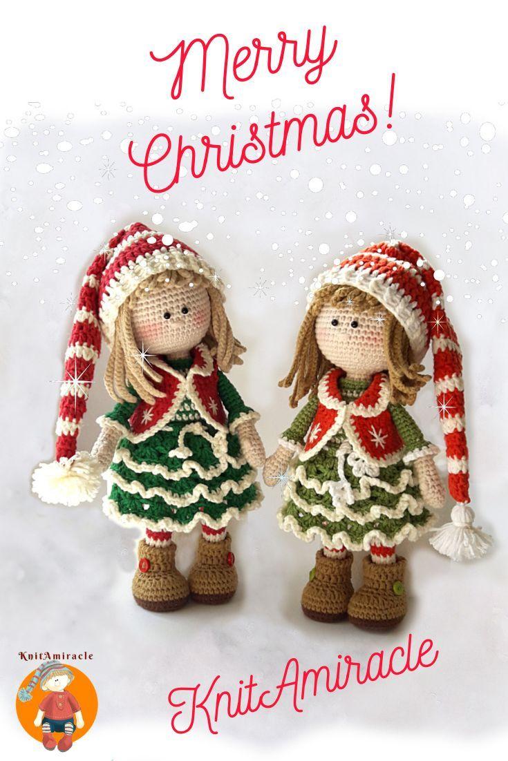 Jovie, the Christmas Elf pattern by Nelly Shkuro #instructionstodollpatterns