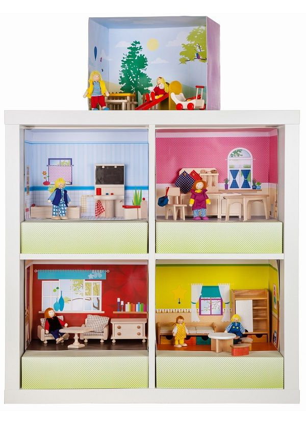 ein echtes kinderspiel das puppenhaus im ikea expedit kallax regal ikea hacks pimps. Black Bedroom Furniture Sets. Home Design Ideas