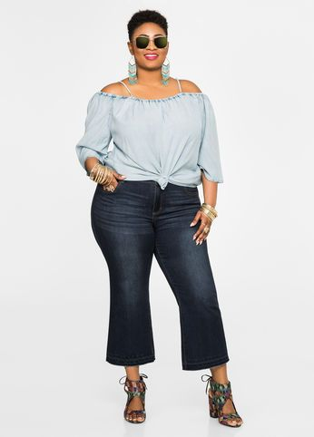 bb24195a20b Cropped Kick Flare Jeans Cropped Kick Flare Jeans