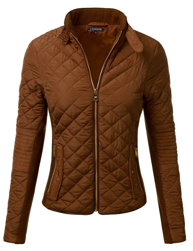 J.TOMSON Women's Quilted Lightweight Puffer Zip Up Jacket with Pockets at  Amazon Women's Coats Shop   Ropa, Chaquetas, Chaquetas dama