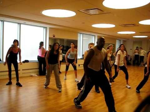 "Nathan Blake does lil "" belly dance"" for Zumba class - YouTube"