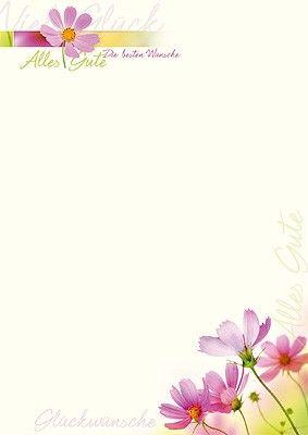 PC #Briefpapier Alles Gute mit #Blumen | Briefpapier | Pinterest ...