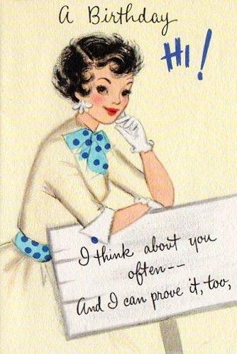 Vintage Birthday Card Pretty Lady Ebay Postales Posters Miniaturas