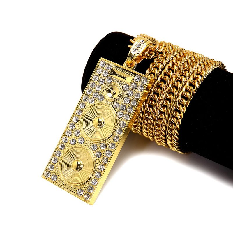 NYUK 2016 Long Chain Hip Hop Loudspeaker Shape Costume Jewelry ...