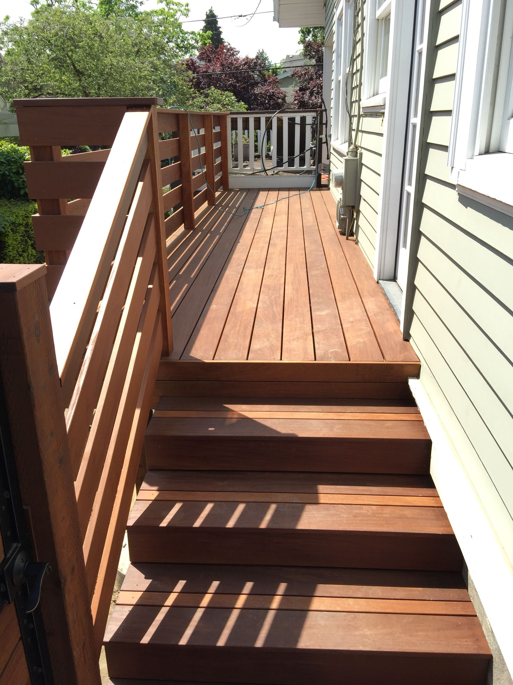 Best Ipe Deck Stained Ipe Stairs Outdoor Woodworking 400 x 300