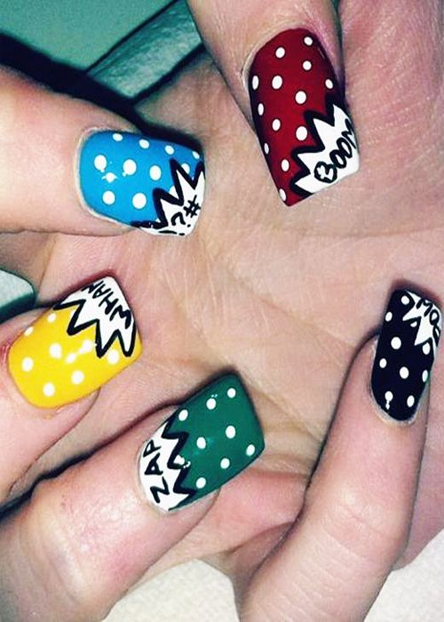 Different Funky Nail Art Design Ideas 2013 Makeup Nails