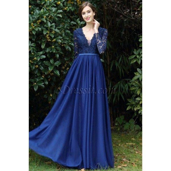 Plunge V-Neck Lace Dress