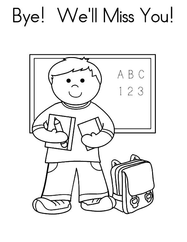 We Ll Miss You Coloring Pages