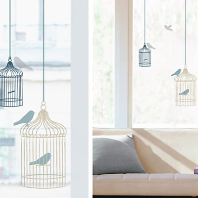 Buy nouvelles bird cages window stickers online at johnlewis com john lewis
