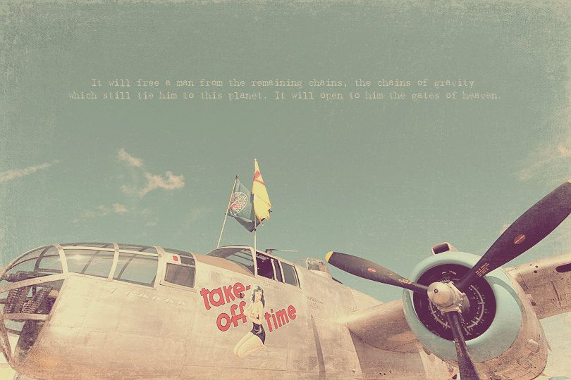 Fighter Jet Plane Vintage Airplane Retro Gift For Pilot Photography Inspirational Quote Photo