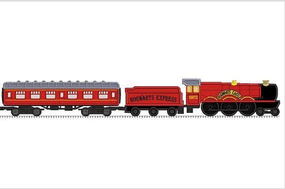 Locomotive applique embroidery design train harry potter