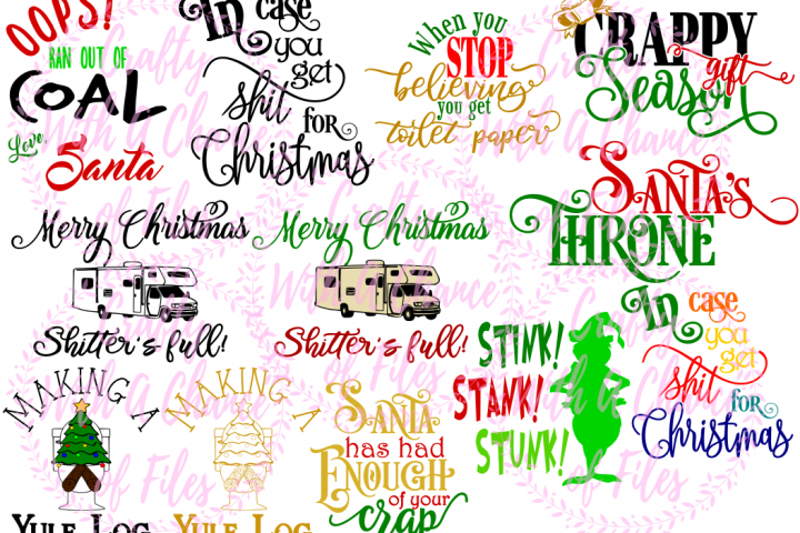 Christmas Toilet Paper SVG Bundle 12 SVGs from
