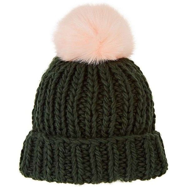 a3c5b8bde5f Barneys New York Women s Pom-Pom-Embellished Wool-Blend Hat ( 69) ❤ liked  on Polyvore featuring accessories