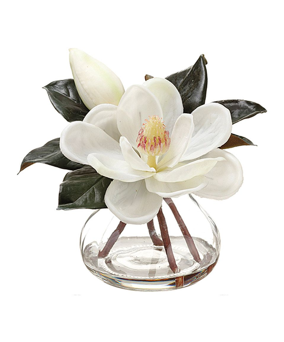 This White Fabric Magnolia Vase By Allstate Floral Craft