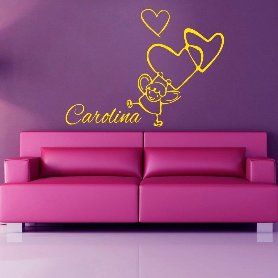 Wall Decals Personalized Name Girl Room Vinyl Sticker Murals Wall Decor KG264