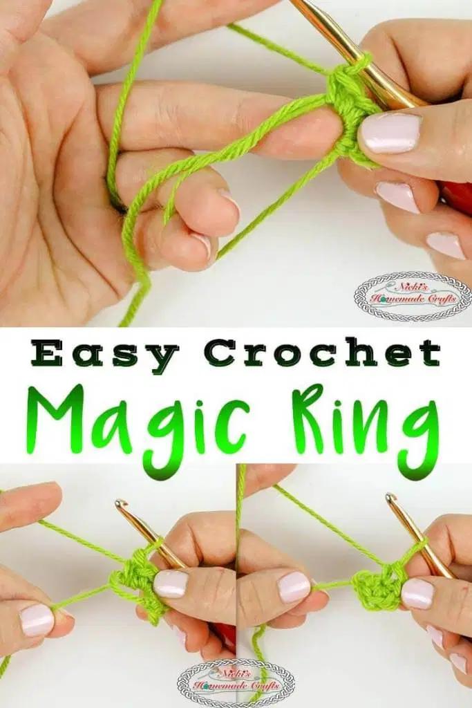Magic Circle Or Magic Ring Photo Video Crochet Tutorial Crochet Stitches For Beginners Magic Ring Crochet Magic Circle Crochet