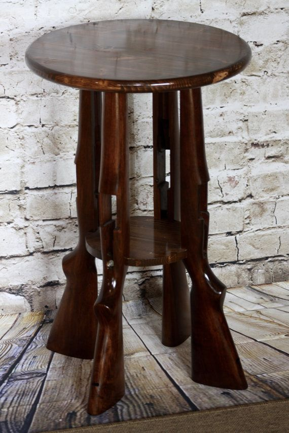 Gun Stock End Table Buy From Etsy Here   #mancave #nra #countrylife