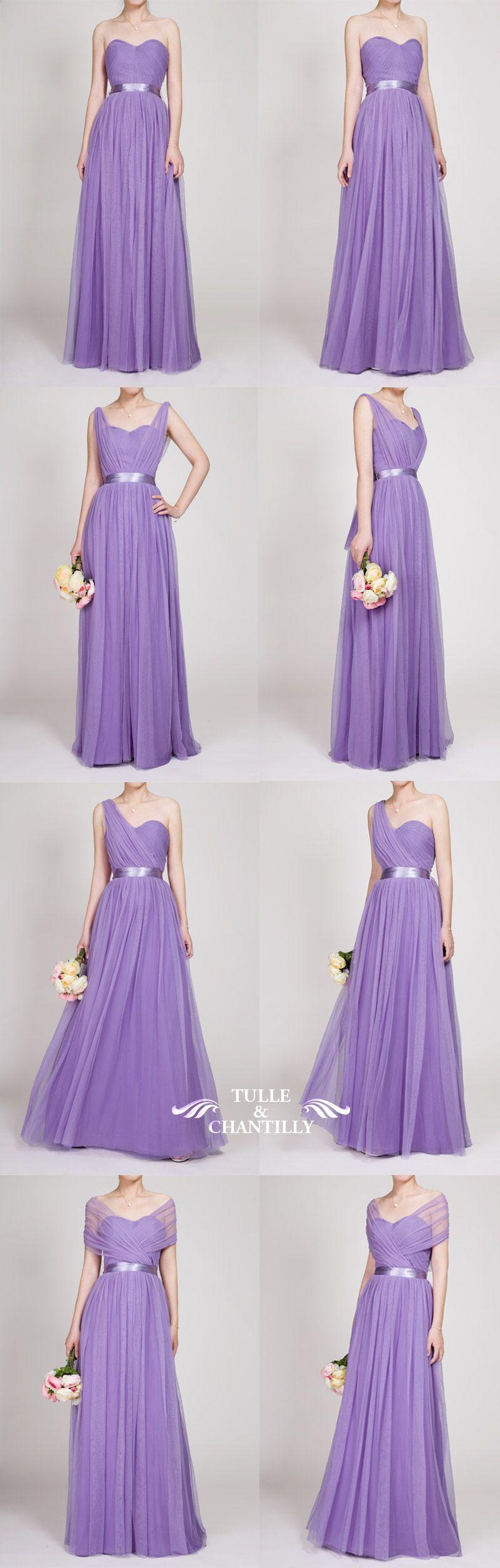 Tulle Convertible Multi-wear Bridesmaid Dress TBQP307 | Lilas, Damas ...